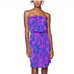 Euc Lilly Pulitzer Windsor strapless dress 0024